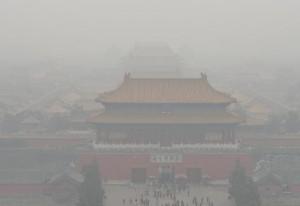雾中的天安门